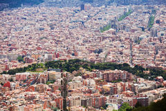 Barcelona cityscape from Tibidabo Stock Image