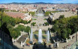 Barcelona cityscape Royalty Free Stock Photo