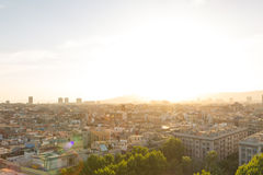 Barcelona cityscape to the north west Royalty Free Stock Photos