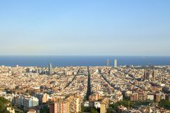 Barcelona Cityscape Royalty Free Stock Photography