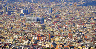 Barcelona cityscape. View from above Stock Photography