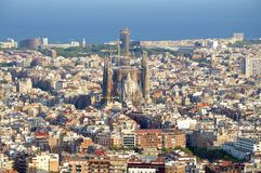 Barcelona, Top view to Sagrada Familia Royalty Free Stock Photography
