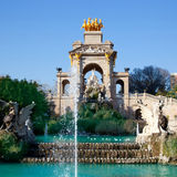 Barcelona ciudadela park lake fountain Royalty Free Stock Photography