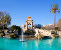 Barcelona ciudadela park lake fountain Stock Photography