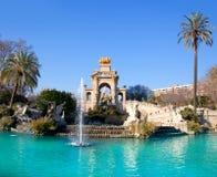 Barcelona ciudadela park lake fountain stock photography
