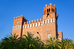 Barcelona Ciudadela Three Dragon Castle Royalty Free Stock Photography