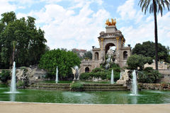 barcelona ciutadella de la parc Royaltyfria Bilder