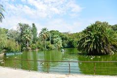 barcelona Ciutadella De Los angeles Parc Zdjęcia Stock