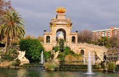 barcelona ciutadella de springbrunn laparc Arkivfoto