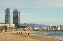 Barcelona coast Royalty Free Stock Photo