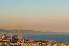 Barcelona coast overlook Royalty Free Stock Photography