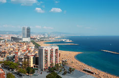 Barcelona coastline Stock Images