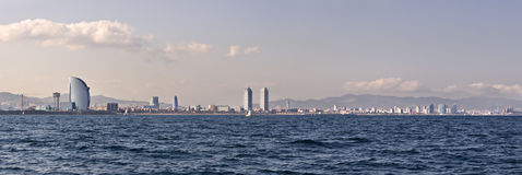 Barcelona coastline Royalty Free Stock Photo