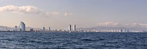 Barcelona coastline Royalty Free Stock Photo