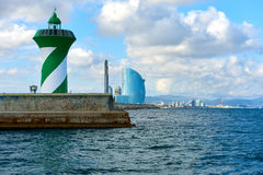 Barcelona coastline. Spain Royalty Free Stock Images