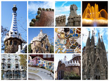 Barcelona collage. A collage of Barcelona city - Spain Stock Image