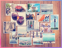 Barcelona collage, a few photos Stock Image