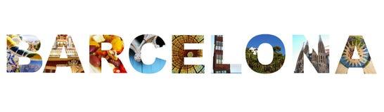 Barcelona collage Stock Photos