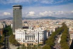 Barcelona from the Columbus Column Stock Photo