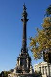 barcelona columbus kolonn Royaltyfri Bild