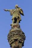barcelona columbus kolonn Royaltyfria Bilder
