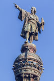 barcelona columbus monument Fotografering för Bildbyråer