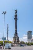 barcelona columbus monument Royaltyfria Foton