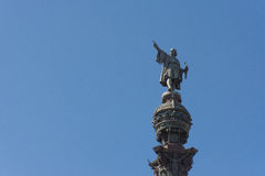 Barcelona columbus monument Stock Photography