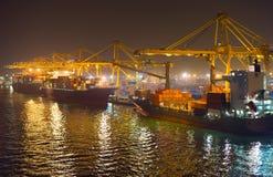 Barcelona commercial port, Spain Stock Images