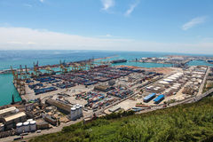 Barcelona container port Stock Photos