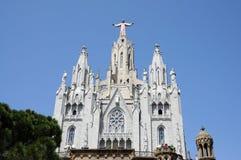 barcelona cor del sagrat tempel royaltyfri fotografi