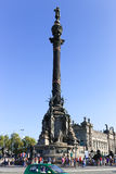 Barcelona Cristobal Colon fyrkant Royaltyfri Foto