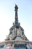 Barcelona Cristobal Colon square statue Royalty Free Stock Photography