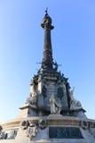Barcelona Cristobal Colon square statue Stock Photography