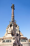 Barcelona Cristobal Colon statue on blue sky Royalty Free Stock Photos