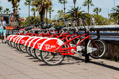 Barcelona Cycle Hire / Viu Bicing Stock Image