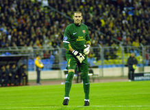 barcelona dämpar fcfotbollmatchen Royaltyfri Foto