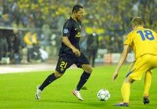 barcelona dämpar fcfotbollmatchen Arkivbilder