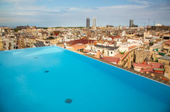 Barcelona-Dachspitzen-Ansicht Lizenzfreie Stockfotografie