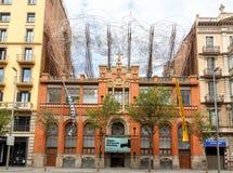 Barcelona Das ägyptische Museum Stockbild