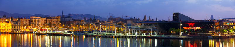 Barcelona in dawn. Spain Royalty Free Stock Images