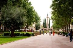 barcelona De Jacint mossen placa verdaguer Fotografia Stock