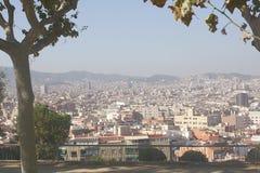 Barcelona de la colina de Montguic Imágenes de archivo libres de regalías