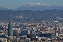 Barcelona de Montjuic Imagen de archivo libre de regalías