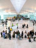 BARCELONA - December 10: Hall of the new airport of Barcelona Royalty Free Stock Images