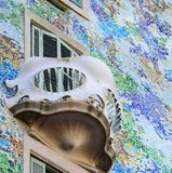 BARCELONA - DECEMBER 30 2015 : Casa Batllo on dECEMBER 30, 2015 in Barcelona, Spain. This famous building was designed by Antoni. Gaudi and is one of the most stock photography