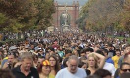 Barcelona-Demo für Unabhängigkeit Lizenzfreies Stockfoto