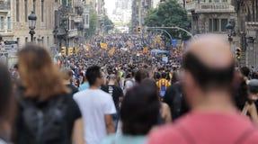 Barcelona-Demo für Unabhängigkeit Stockfotos