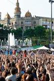 barcelona demokracja teraz istny Spain Obraz Stock