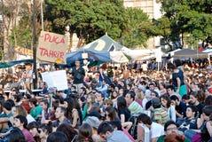 barcelona demokracja teraz istny Spain Zdjęcia Stock